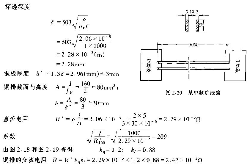 熔铜炉交流电阻计算实例